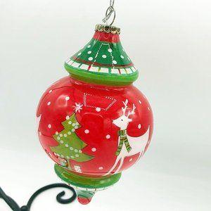Pier 1 2012 Reindeer Tear Drop Li Bien Ornament in
